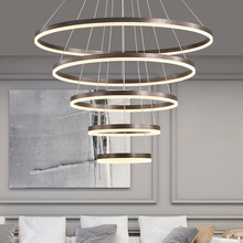 Modern Ring Led Ceiling Chandeliers for Living Dining Room Loft Hanging Lamp Home Decore Accessories Indoor Lighting Fixtures