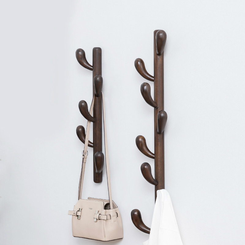 Solid Wood Cactus Clothes Hanger Stand Hats Rack Coat Stand Wall Hanging Wooden Scarf Stand Rack Furniture Garment Coat Rack