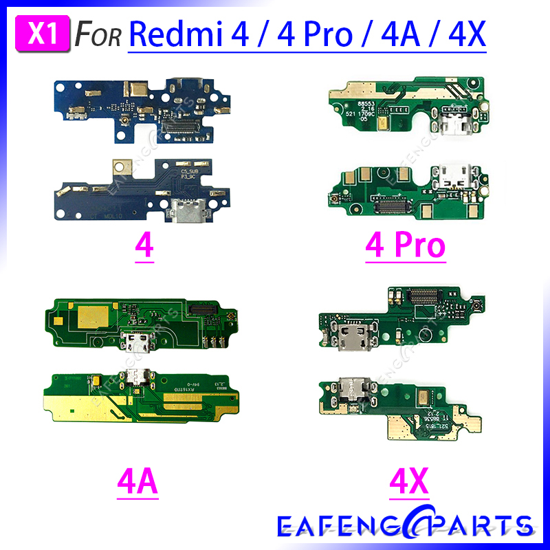 Repair Parts PCB Board Ribbon Flex For Xiaomi Redmi 4 Pro 4A 4X USB Charger Port Flex Cable Charging Dock Connector