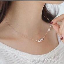 Женское Ожерелье с миниатюрной звездой ожерелье из стерлингового