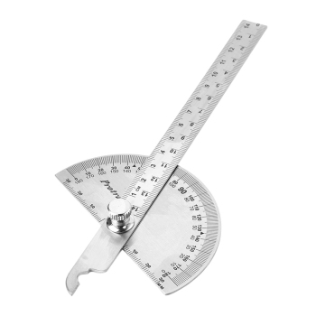 Adjustable 15cm 180 Degree Protractor Multifunction Stainless Steel Roundhead Angle Ruler Mathematics Measuring Tool nice metal protractor mesure angle ruler measuring tool angle measurment round ruler stainless rule steel ruler protractor ruler