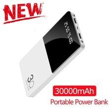 Güç bankası 30000mAh taşınabilir güç bankası şarj LED dijital ekran harici pil için Xiaomi iphone7 8 x xs