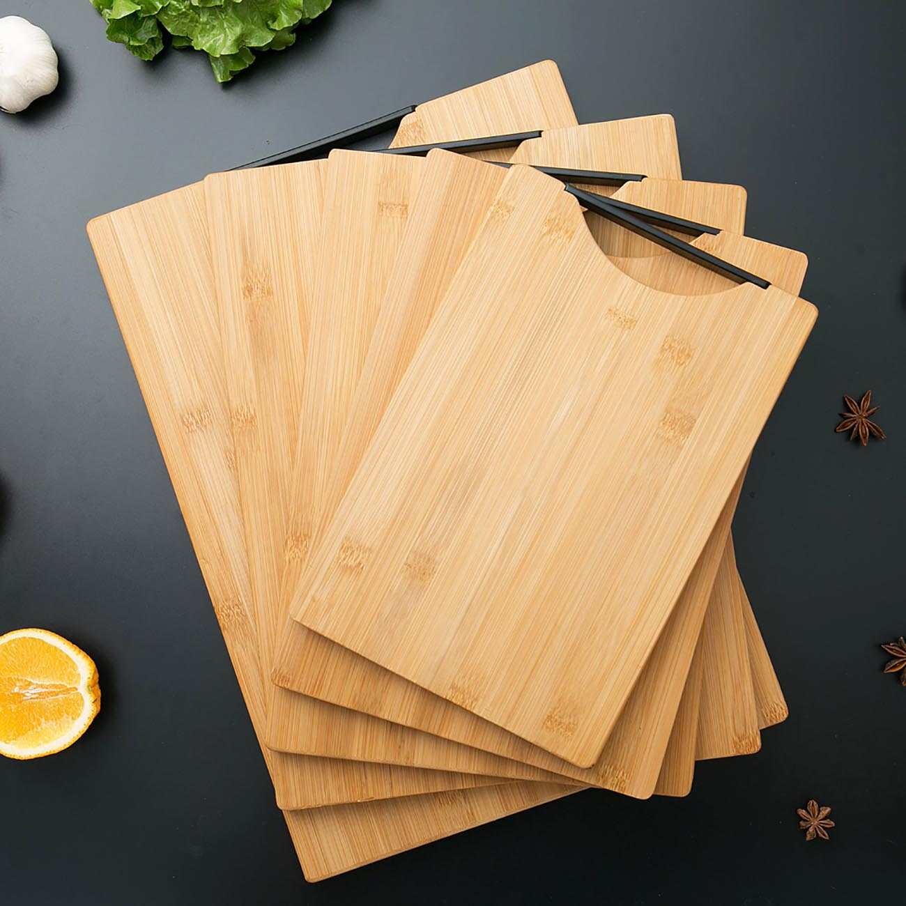 High Quality Kitchen Wood Cutting Board with Handle Thicken Bamboo Chopping Board Block Non-slip Cutting Mat Pad Kitchen Tools
