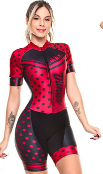 Conjunto profissional em jérsei para ciclismo feminino, macacão para andar de ciclismo, conjunto de vestimenta rosa com almofada em gel, 2019 1