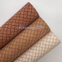 Waffle folhas de couro sintético texturizadas, folhas de couro sintético, couro pu para fazer arcos ����s163b, 1 peça