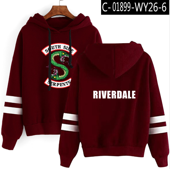 Riverdale South Side Serpents Cool Hoodie Sweatshirts Cool Fashion SouthSide Funny SNAKE Printed Women/Men Hooded Pullover