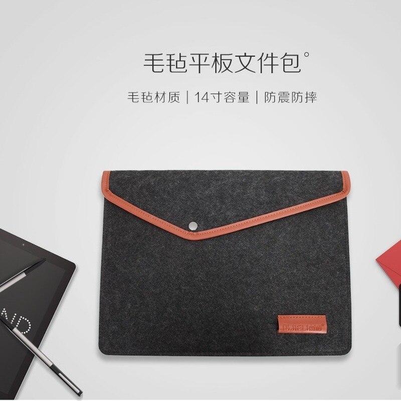 Felt Briefcase Laptop Bag High Quality Business Minimalist Felt Briefcases Handbag Notebook Computer Bag  Office Bags For Women