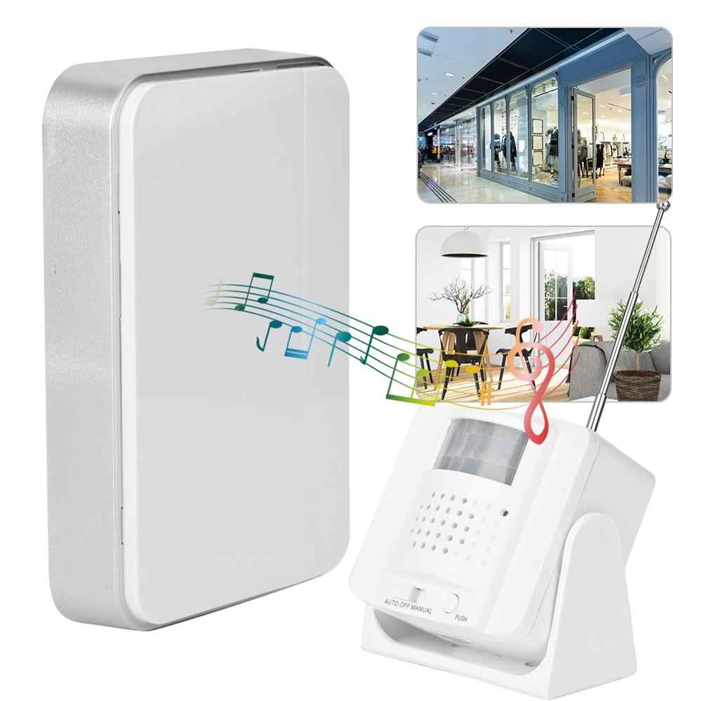 3 in 1 Infrared Motion Sensor Alarm Door Entry Welcome Doorbell Alert Security 110-240V US Plug