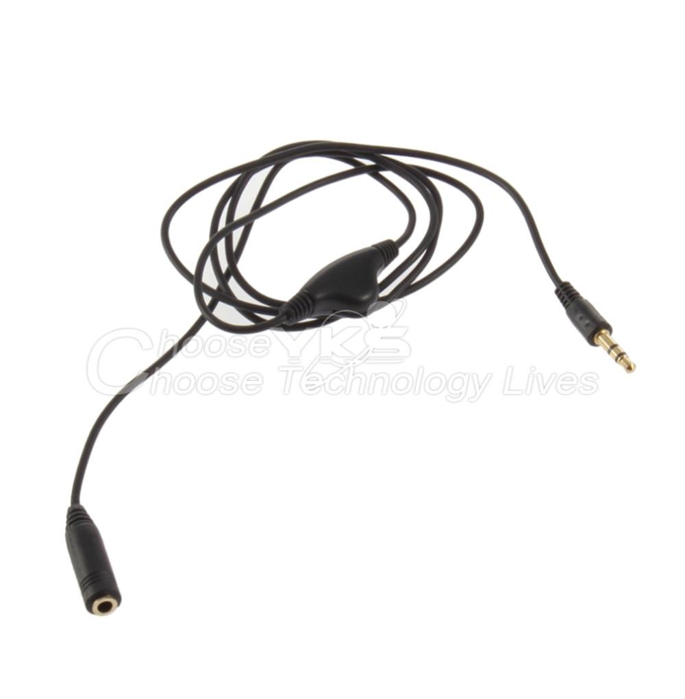3,5 мм M/F 1 м удлинитель аудио стерео наушники кабель с отслеживанием объема работы Управление