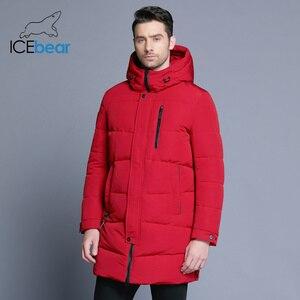 Image 1 - ICEbear 2019 Hot sprzedaż zima ciepłe  mężczyzn ciepłe  kurtka parki wysokiej jakości Parka moda na co dzień płaszcz MWD18856D