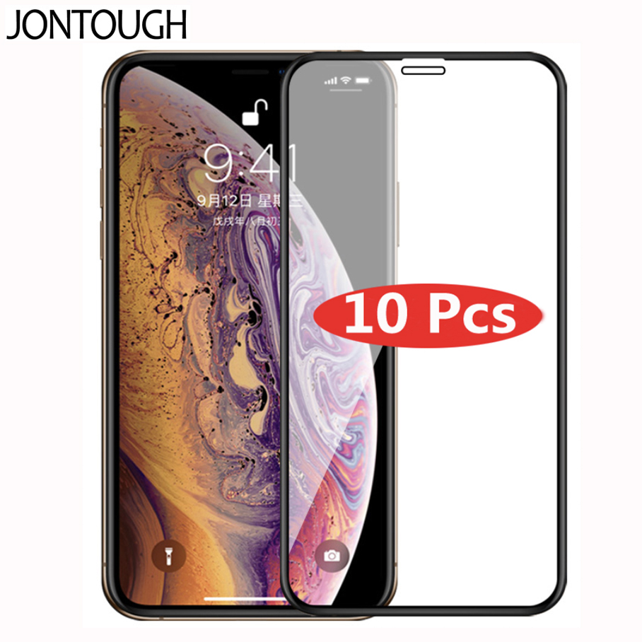 10pcs Tempered Glass For IPhone 11 Pro Max Screen Protector Film For IPhone X XR XS MAX Protective Glass Full Cover