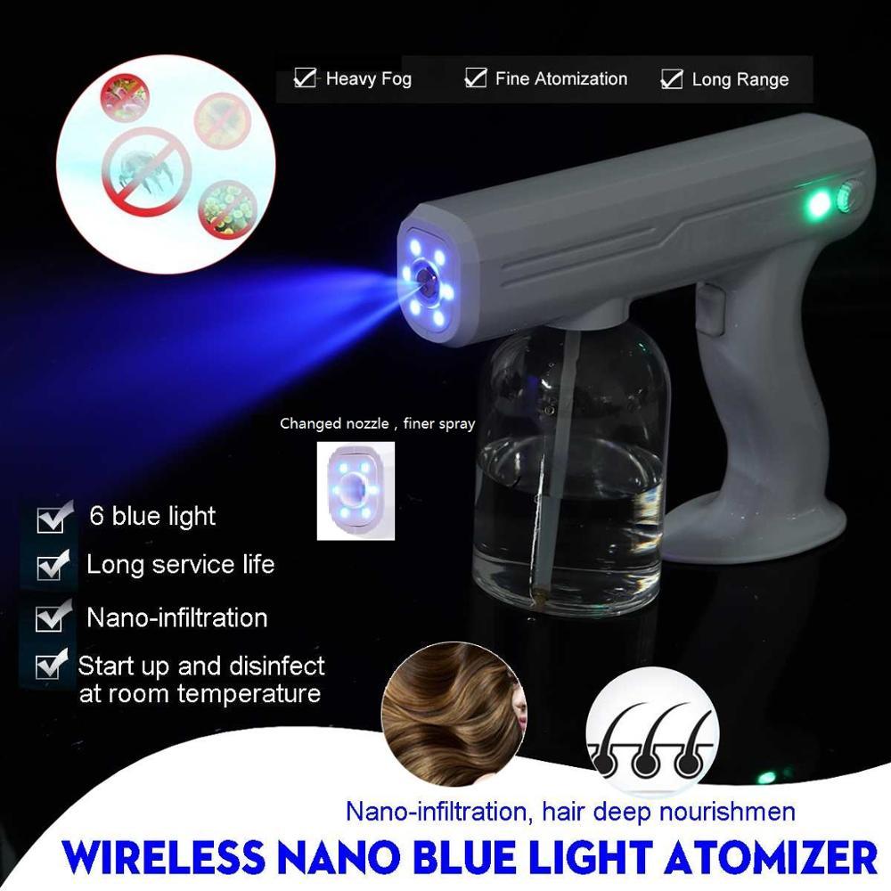 800ML 110V/220V CE Household Portable Wireless Sprayer Machine Blue Light Nano Steam Spray Gun Disinfection-1