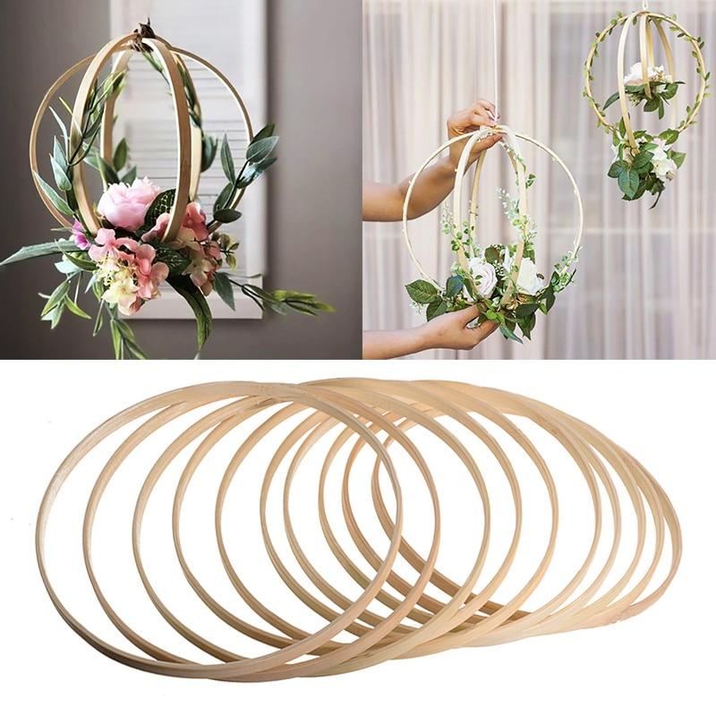 1 шт. 8-40 см деревянный каркас обод кольцо инструмент для вышивки обруча бамбуковый круг для вышивки крестиком ручной DIY Художественный инстр...