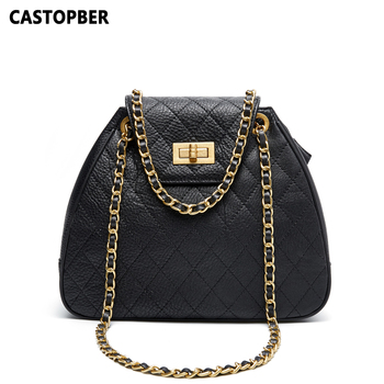 Ladies Quilted Shoulder Handbags Cow Genuine Leather Women's Tote Crossbody Bags Black Diamond Littice Fashion Designer Brand