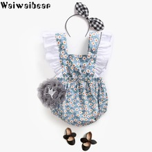 Baby Rompers Climbing Dress Flower Strap Girl Pants Clothes Funny New Summer Ruffle Jumpsuit  Body Suits