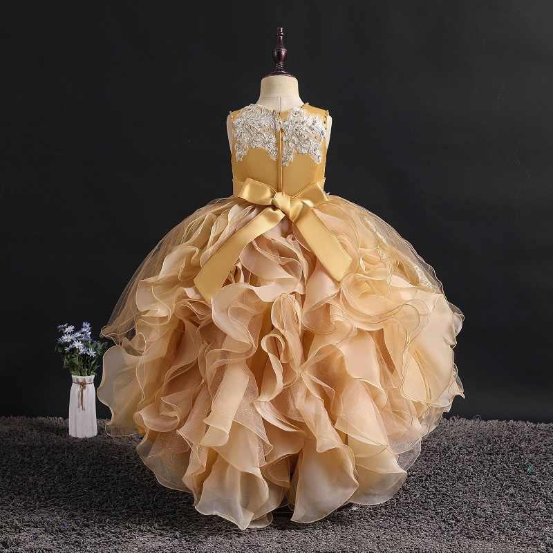 フラワーガールドレスネイルビーズ花子供ウェディングパーティードレス服初聖体プリンセス夜会服 Christm