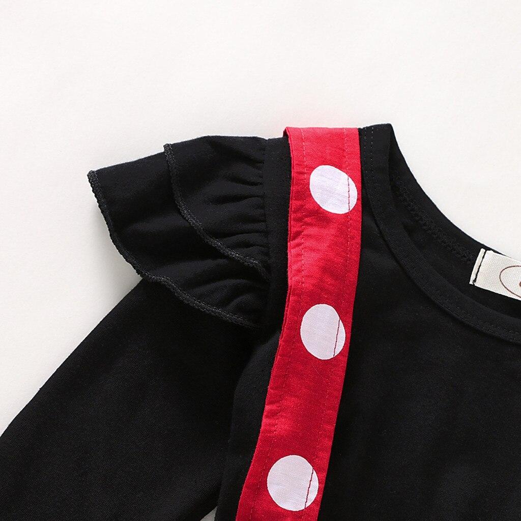 Minnie Mouse Baby Girls Clothes Set Polka Dot Children Baby Girl Autumn Winter Baby Clothing Ruffles Tops+Strap Skirt Roupa Bebe Pakistan
