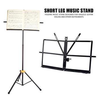Soporte de música de gran oferta soporte de música plegable ajustable resistente al desgaste soporte de música de hierro para violín