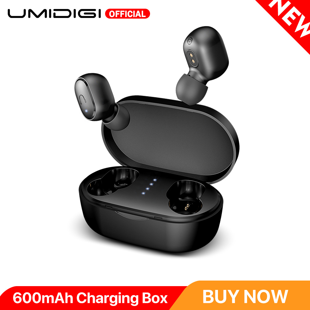 UMIDIGI Upods TWS Bluetooth 5.0 <font><b>Headphones</b></font> Wireless Earbuds Auto Pairing Noice Reduction with 600mAh Charging box