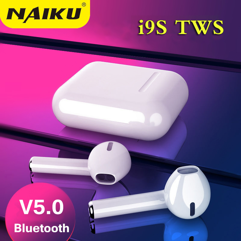 <font><b>i9S</b></font> TWS Wireless <font><b>Bluetooth</b></font> <font><b>5.0</b></font> <font><b>Earphones</b></font> Binaural Calling Headphone With Charging Box Stereo Headset for all phone image