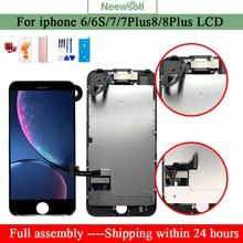 Tela lcd para iphone, 6, 7 plus, 8, 7 plus, 7 display de tela para iphone 7, 8, lcd, montagem completa tela de peças do telefone para iphone7 6s