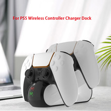 Dualsense Charging Dock Station Cradle Voor PS5 Draadloze Controller Dual Charger Met Led Indicator Usb Lading