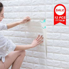 Stickers Bedroom Papers Brick Wall-Panel Self-Adhesive Home-Decoration Living-Room 3D