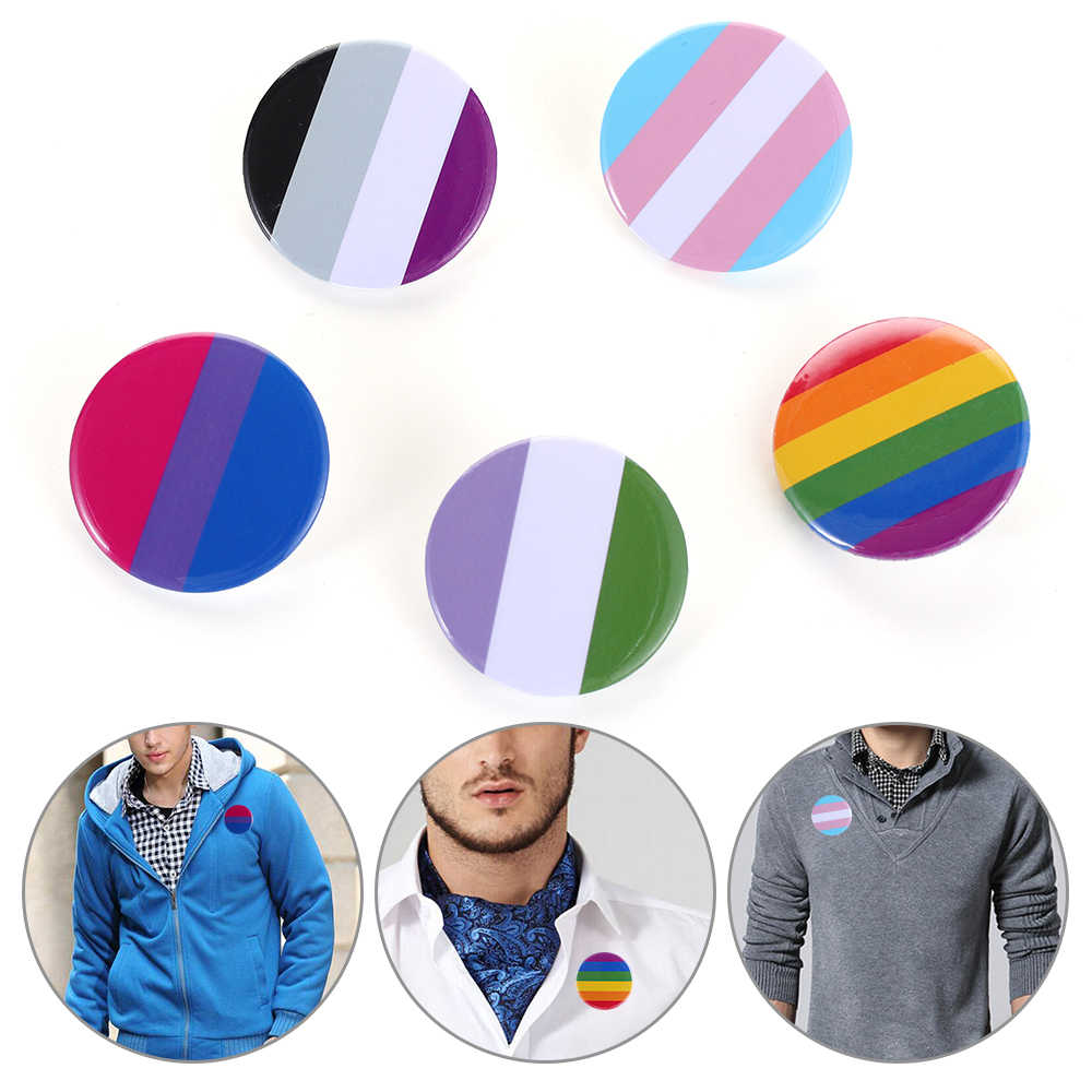 2020 Hot 1Pc Lgbt Rainbow Gay Pins Blik Badge Revers Denim Broches Hoed Decoratie Mannen Vrouwen Kraag Pin Sieraden accessoires