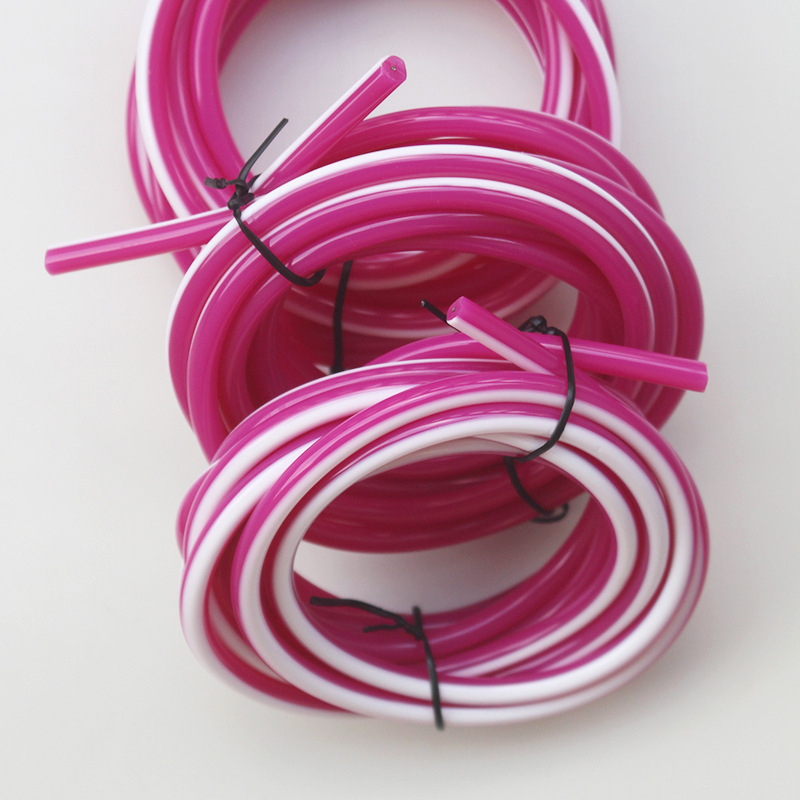 PVC Purple-white Cored Jump Rope Cored Rubber Rope Fishing Glue Trace Support Customization
