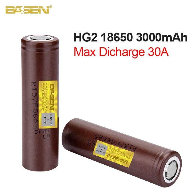 Basen новый оригинальный HG2 18650 3000 мАч аккумулятор 3,6 В Высокая мощность разряда 18650 аккумуляторные батареи 30A большой ток батареи|Перезаряжаемые батареи|   | АлиЭкспресс - Компьютеры и техника