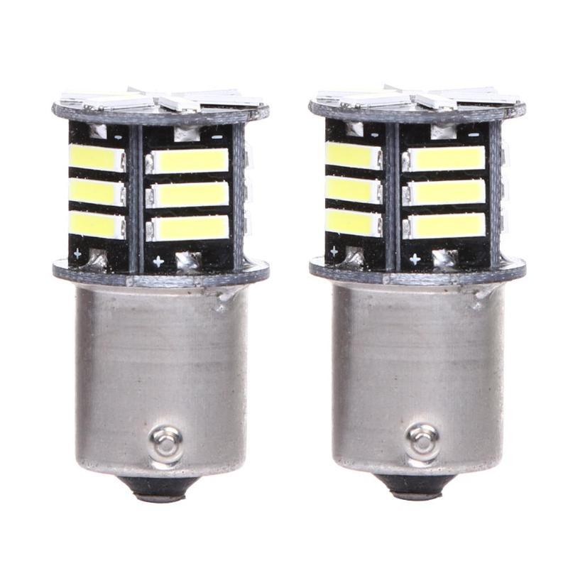 2x Canbus No Error White LED Tail Backup Reverse Light Bulb BA15S 1156 7506