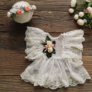 Image 2 - Jane Z Ann French style lace flower dress baby girl newborn/1 2 year/100 days   photography prop studio shooting accessories