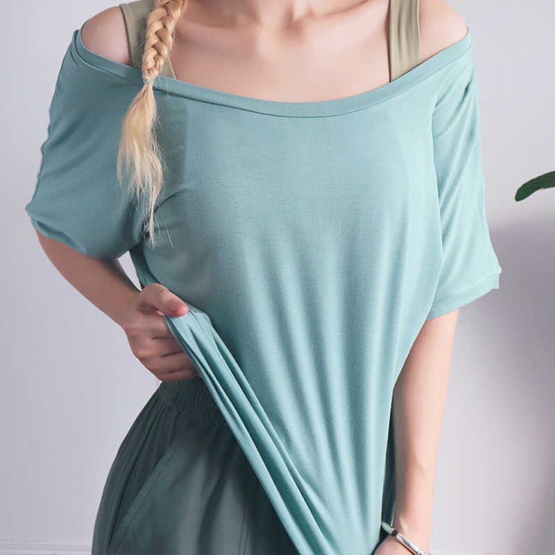 Zhangyunuo ملابس رياضية على حد سواء اليوغا المحاصيل عالية المرونة اللياقة البدنية النشطة رياضة النساء الصالة الرياضية تجريب قميص طويل الأكمام فضفاضة الجافة تناسب