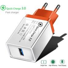 QC 3.0 chargeur USB charge rapide 3.0 pour iphone Samsung Xiaomi Huawei ue adaptateur de charge chargeur de téléphone portable câble Micro USB C