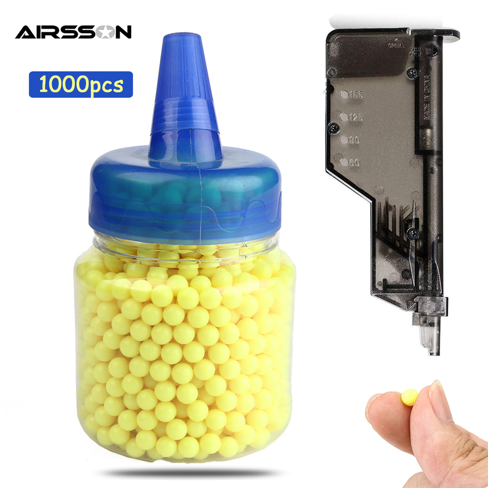 1000 Rounds 0.12g Tactical Airsoft BB Balls With Bottlle Paintball Ammo Beads Strikeball BB Bullet For Outdoor Hunting Shooting