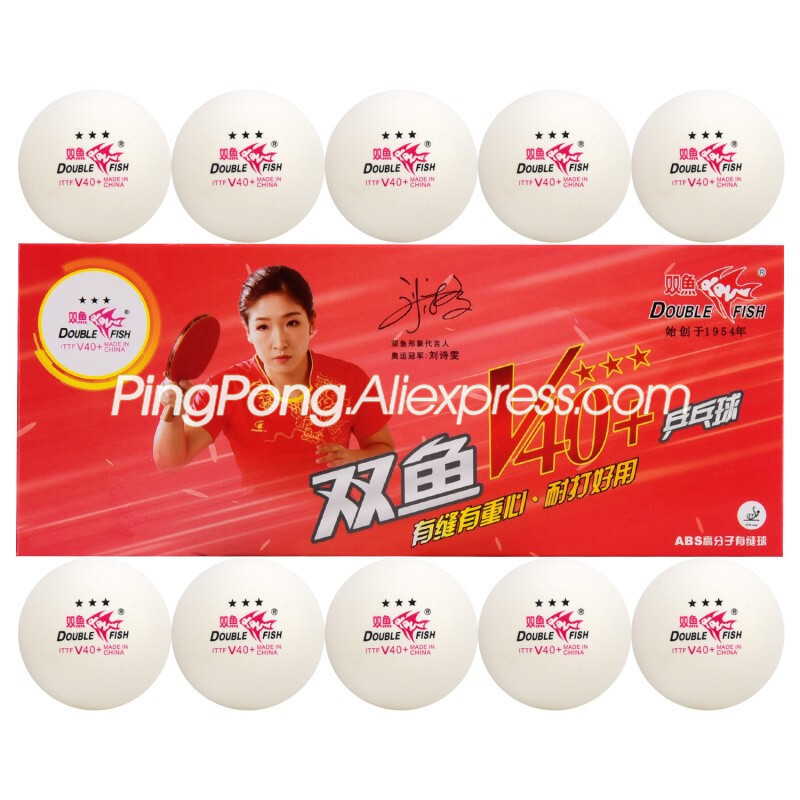 Double Fish 3-Star V40+ Table Tennis Ball Plastic ABS Original DOUBLEFISH 3 Star Ping Pong Balls For Official Games