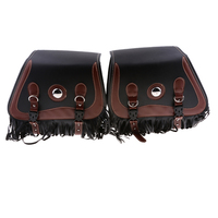 Studded Leather Motorcycle Tassels SaddleBags Panniers Luggage