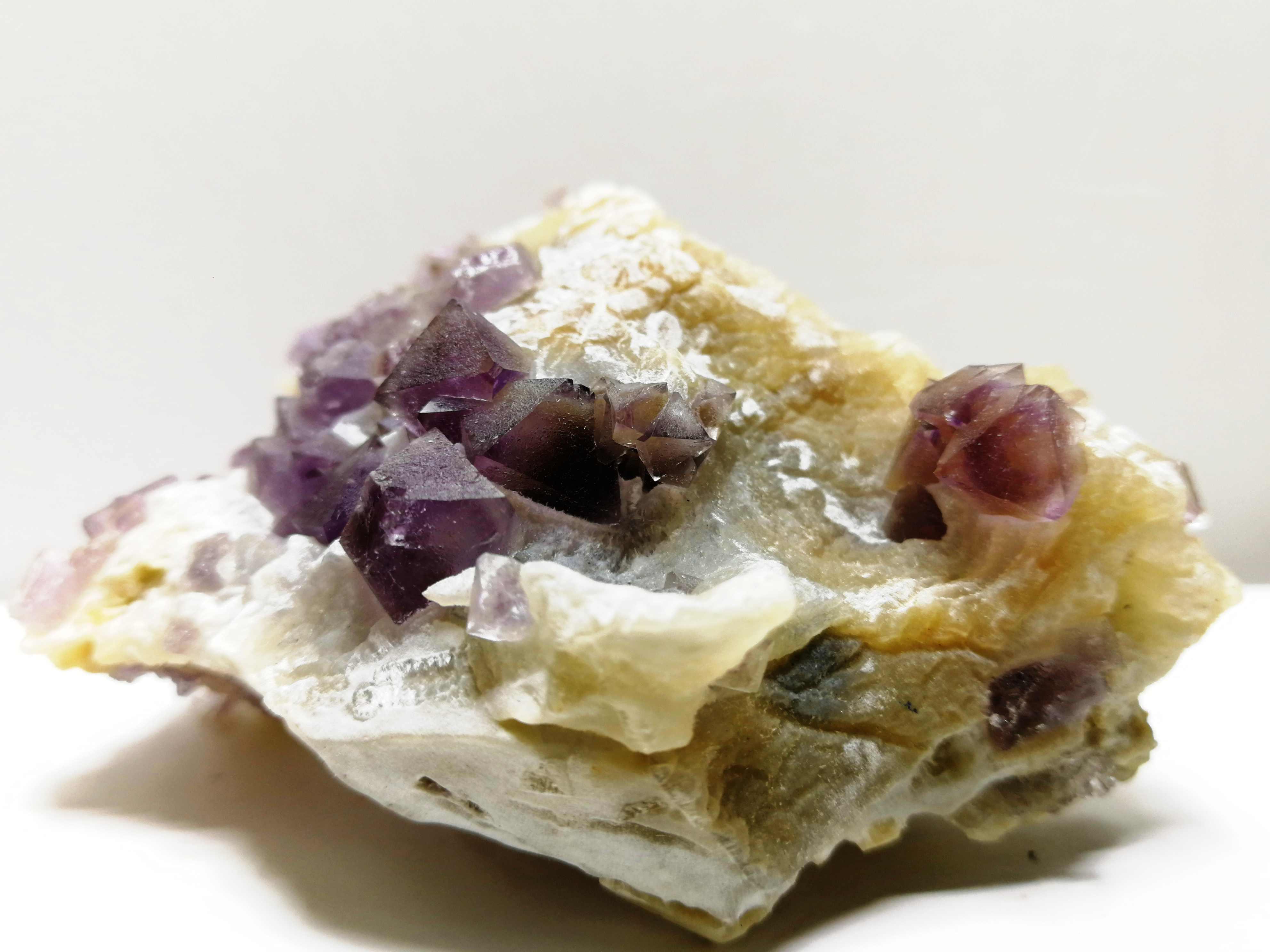 119.6 Gnatural Tím Fluorit Khoáng Mẫu Vật, Tinh Thể Thạch Anh, Nội Thất Trang Trí