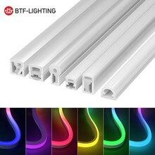 Tubo de señal de neón WS2812B WS2811, tira de luces LED RGBW SK6812, 1m, 2m, 3m, 4m, 5m, tubo Flexible de luces suaves de neón para exteriores