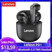 Lenovo PD1 Bluetooth 5.0 אוזניות TWS אלחוטי אוזניות מגע שליטה למחצה ב אוזן אוזניות סטריאו בס מוסיקה אוזניות עם מיקרופון
