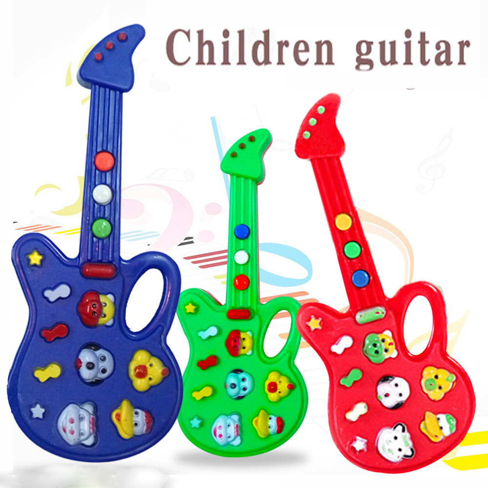 Baby Kids Cute Electronic Guitar Rhyme Developmental Music Sound Child Toy Kids Toys Toys For Children Baby Toys Juguetes