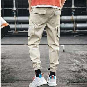 Image 5 - מכנסיים מטען גברים רצים שחור הרמון מכנסיים רב כיס סרטי איש מכנסי טרנינג Streetwear מכנסי קזואל אלסטי מותניים זכר מכנסיים