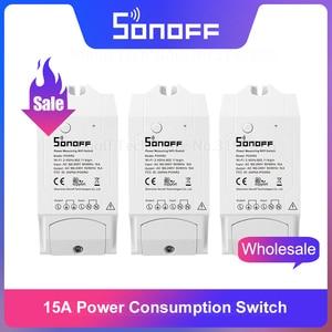 Image 1 - Itead Sonoff POW R2 15A WiFi Smart Switch Monitor Energie Verbrauch Smart Home Wi Fi Schalter über eWeLink APP Arbeitet Mit alexa IFTTT