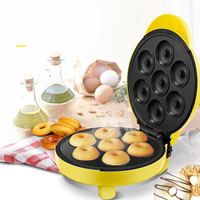 Home Automatic Electric Mini Doughnut Maker Cake Machine Double sided Heating Cooking Machine for Kitchen 220V
