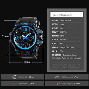Image 5 - SKMEI montre de Sport pour hommes, Top marque, militaire numérique, étanche 5 bars, double affichage, étanche