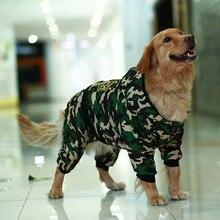 Camouflage Hond Kleding Winter Warm Chic Jumpsuit Hoodie Golden Retriever Hond Jas Jacket Voor Grote Honden Ropa Perro Invierno