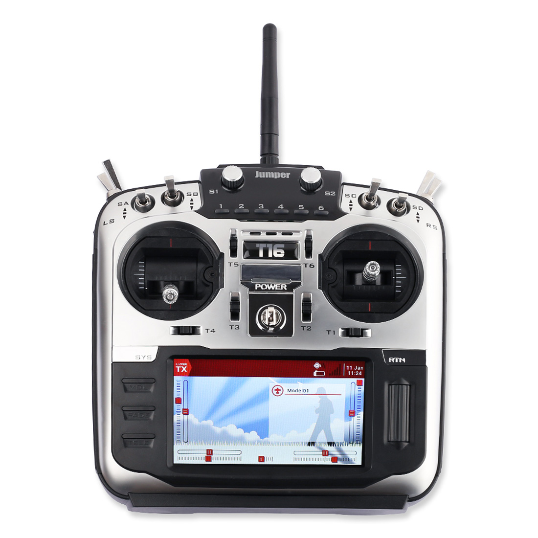 "Jumper  T16 Pro T16 PlusTransmitter with JP4 in 1 RF Modul Open Source Multi protocol Radio 2.4G 16CH 4.3"" LCD for FPV Drone-in Parts & Accessories from Toys & Hobbies"