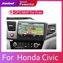 ZaiXi Android 2 Din Car radio Multimedia Video Player auto Stereo GPS MAP For Honda Civic 2012~2015 Media Navi Navigation