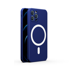 Magsafe – coque souple magnétique en silicone pour iPhone, compatible modèles 12 mini 12 Pro Max