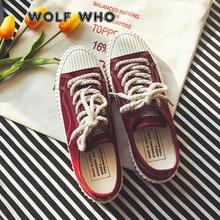 WOLF WHO zapatos planos de lona para hombre, mocasines informales, calzado clásico, alpargatas con cordones, Tenis, X 087